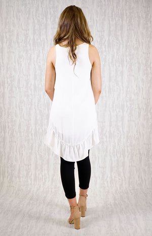 CLOTHO WHITE FRILL TOP
