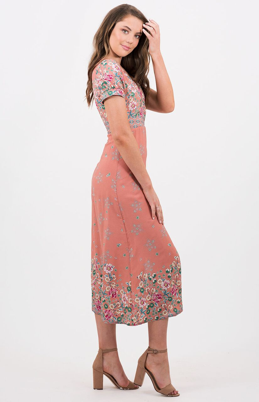 METIS Pink Button Dress