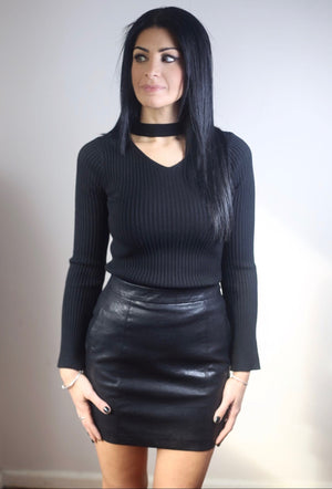 DORIS Faux Leather Mini Skirt