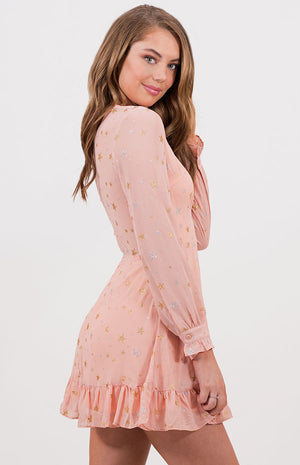 PENELOPE Pink Star Mini Dress