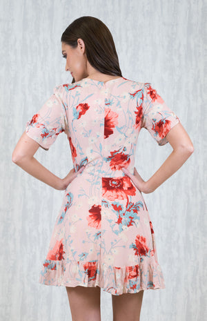 BIA BLUSH FLORAL SHORT DRESS