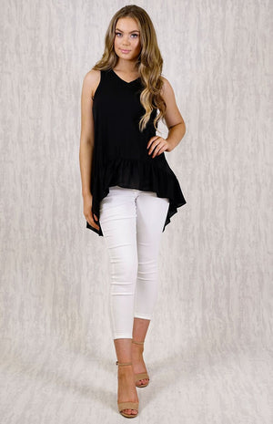 CELAENO FRILL BLACK TOP
