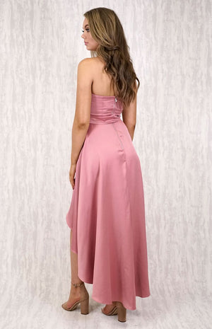 ATE Pink Satin Dress