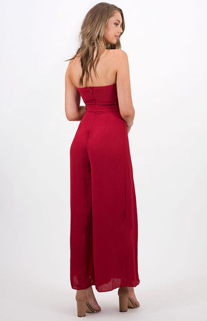Medusa Goddess Red Jumpsuit