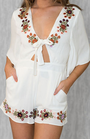 NYX White Flower Playsuit