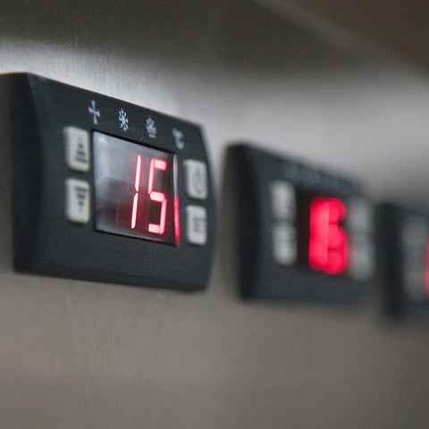 Temperature control unit for mortuary cooler