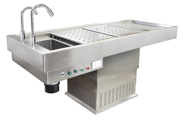 stainless steel embalming table