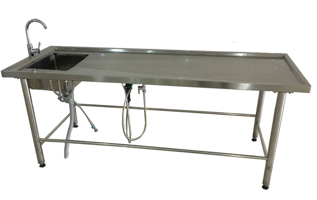 stainless steel autopsy table - mortuary equipment