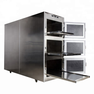 3 Body Mortuary Cooler with Doors Open