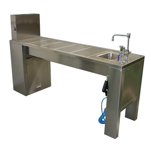 Dissection Table with Sink & Removable Drain Plates
