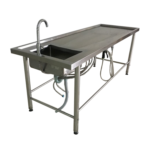 Embalming Table with Sink