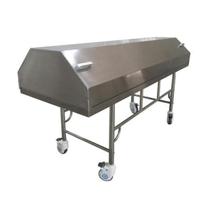 stainless steel covered cadaver carrier