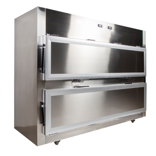 2 body horizontal mortuary cooler