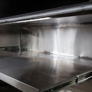 stainless steel body tray with slides