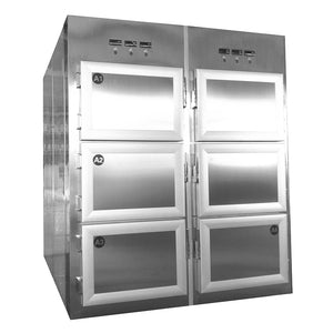 6 body upright morgue cooler