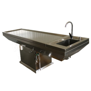 stainless steel pedestal autopsy table