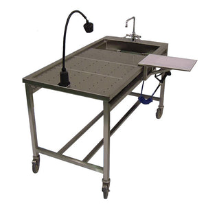 stainless steel mortuary table