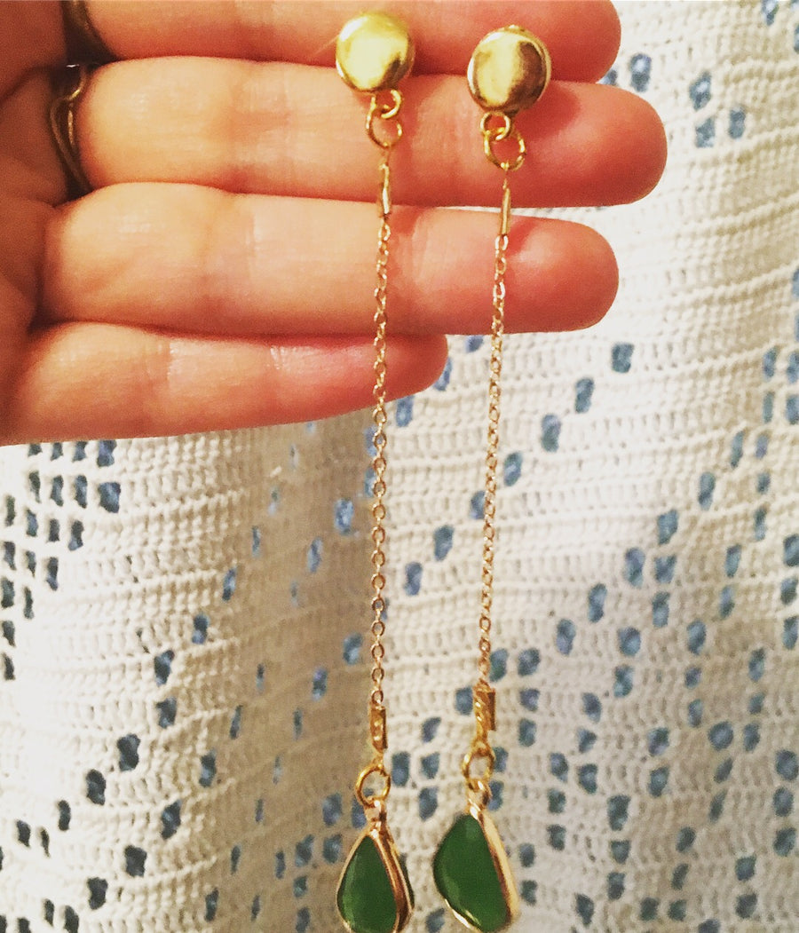 Girona Green Earrings