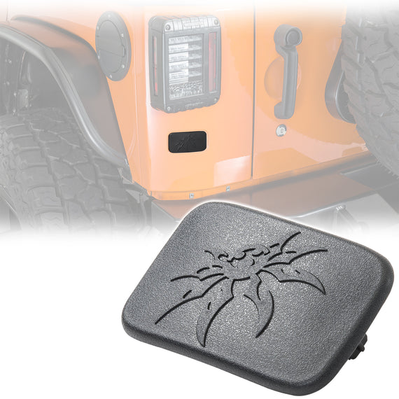 Poison Spyder Rear License Plate Delete Cover For 2007-2018 Jeep Wrangler JK