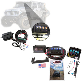S-Tech 4 Switch System With Relays & Fuses for Jeep Wrangler JK 2007-2018