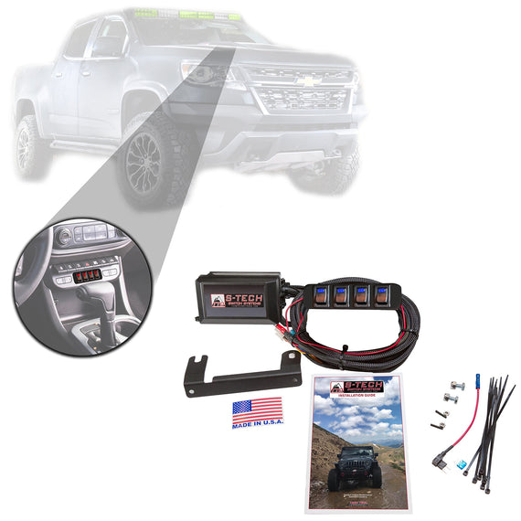 S-Tech 4 Switch System With Relays & Fuses for Chevy Colorado 2015-2019