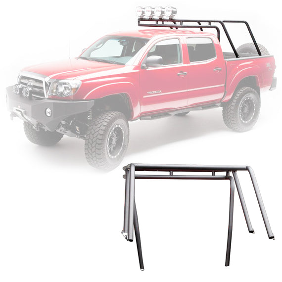 Body Armor 4x4 2005-2015 Toyota Tacoma Crew Cab Bed Accessories Sport Rack + Basket