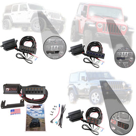 S-Tech 6 Switch System With Relays & Fuses for Jeep Wrangler JL 2018-2019