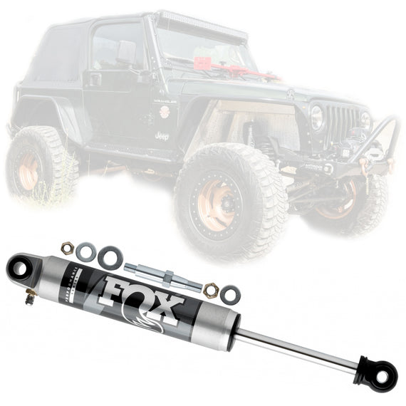 Fox 2.0 Performance Series Front Steering Stabilizer for 1997-2006 Jeep Wrangler TJ LJ