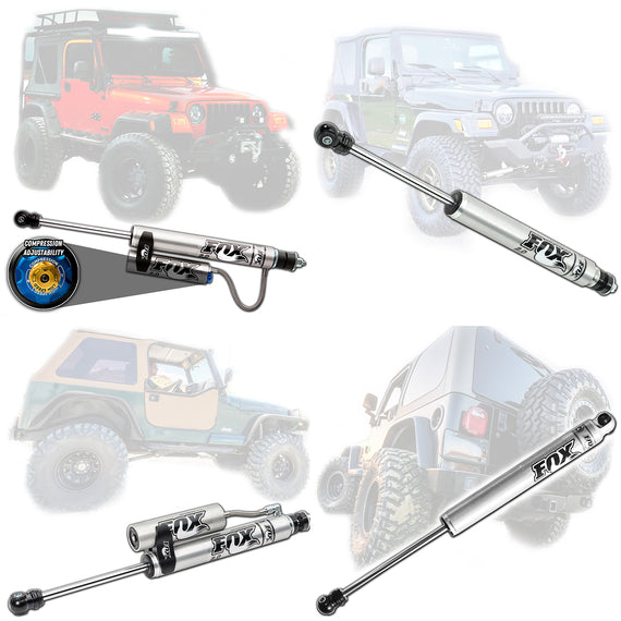 Fox 2.0 Performance Series Shocks For 1997-2006 Jeep Wrangler TJ LJ