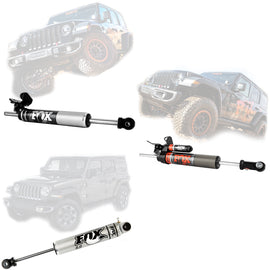 FOX 2.0 Performance Series Front Steering Stabilizer For 2018-2019 Jeep Wrangler JL