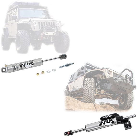 Fox 2.0 Performance Series Front Steering Stabilizer for 2007-2018 Jeep Wrangler JK