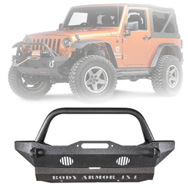 Body Armor 4x4 2007-2018 Jeep Wrangler Front Bumper Mid Stubby