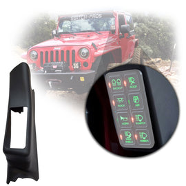 Switch Pros A-Pillar Switch Panel for 2011-2018 Jeep Wrangler JK