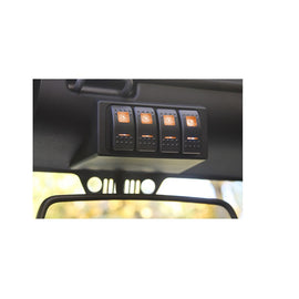 S-Tech 4 Switch System with Relay Center - Amber Dual LED 09-18 Jeep Wrangler JK