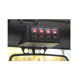 S-Tech 4 Switch System with Relay Center - Red Dual LED 09-18 Jeep Wrangler JK