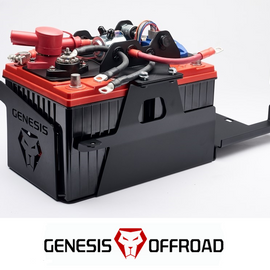 Genesis Offroad Dual Battery Kit w/ 200 Amp Isolator 18-20 Jeep Wrangler JL