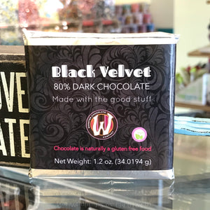 LOVE Bar - Black Velvet 80% Dark Chocolate Bar
