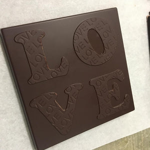 LOVE Bar - Black Velvet 80% Dark Chocolate Bar - TEN Bars