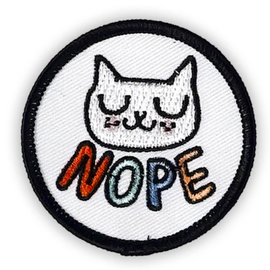 """Nope"" - Iron-on Patch + Sticker"