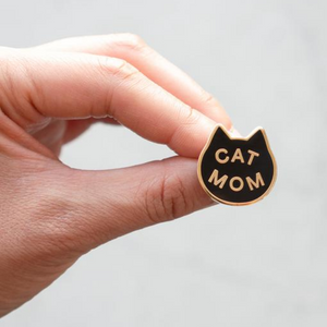 """Cat Mom"" - Enamel Lapel Pin"