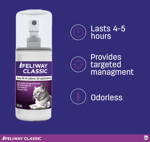"Feliway Classic -  ""Behavior Modifier"" Spray, 60 ml bottle"