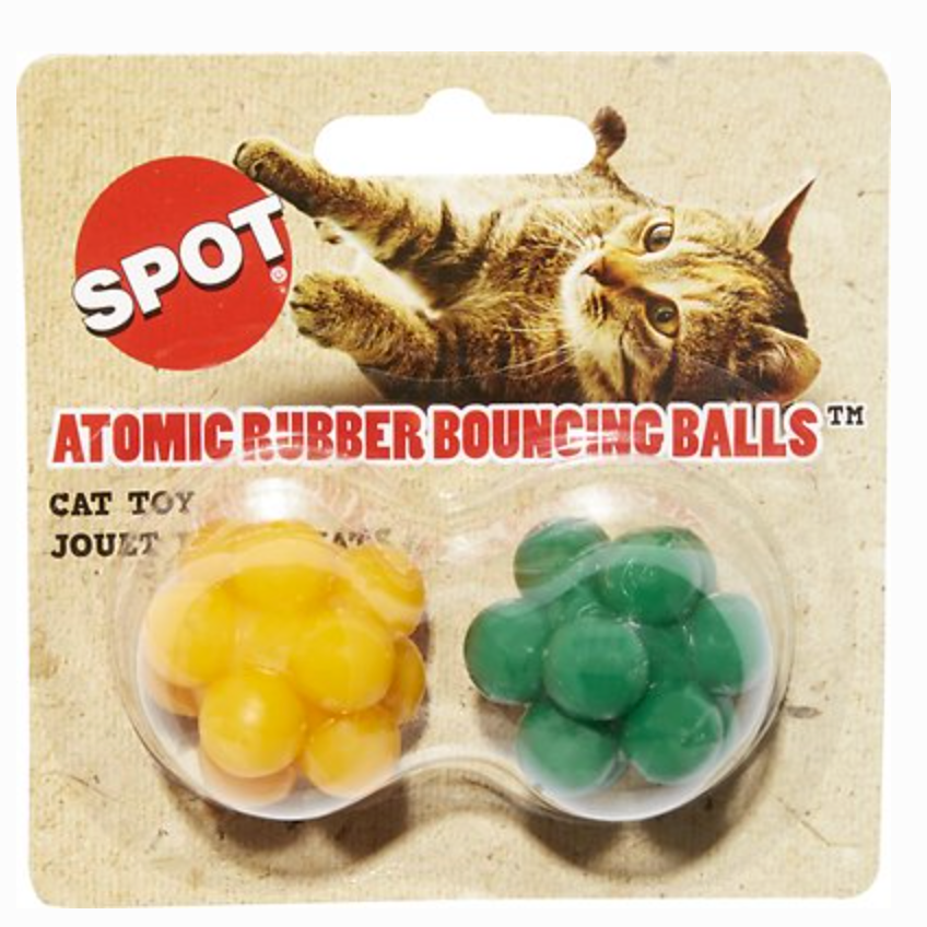 """Atomic Rubber Bouncing Balls"" (2 pack) - Cat Toy"