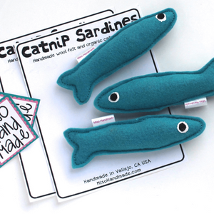 """Catnip Sardines"" - Cat Toy"