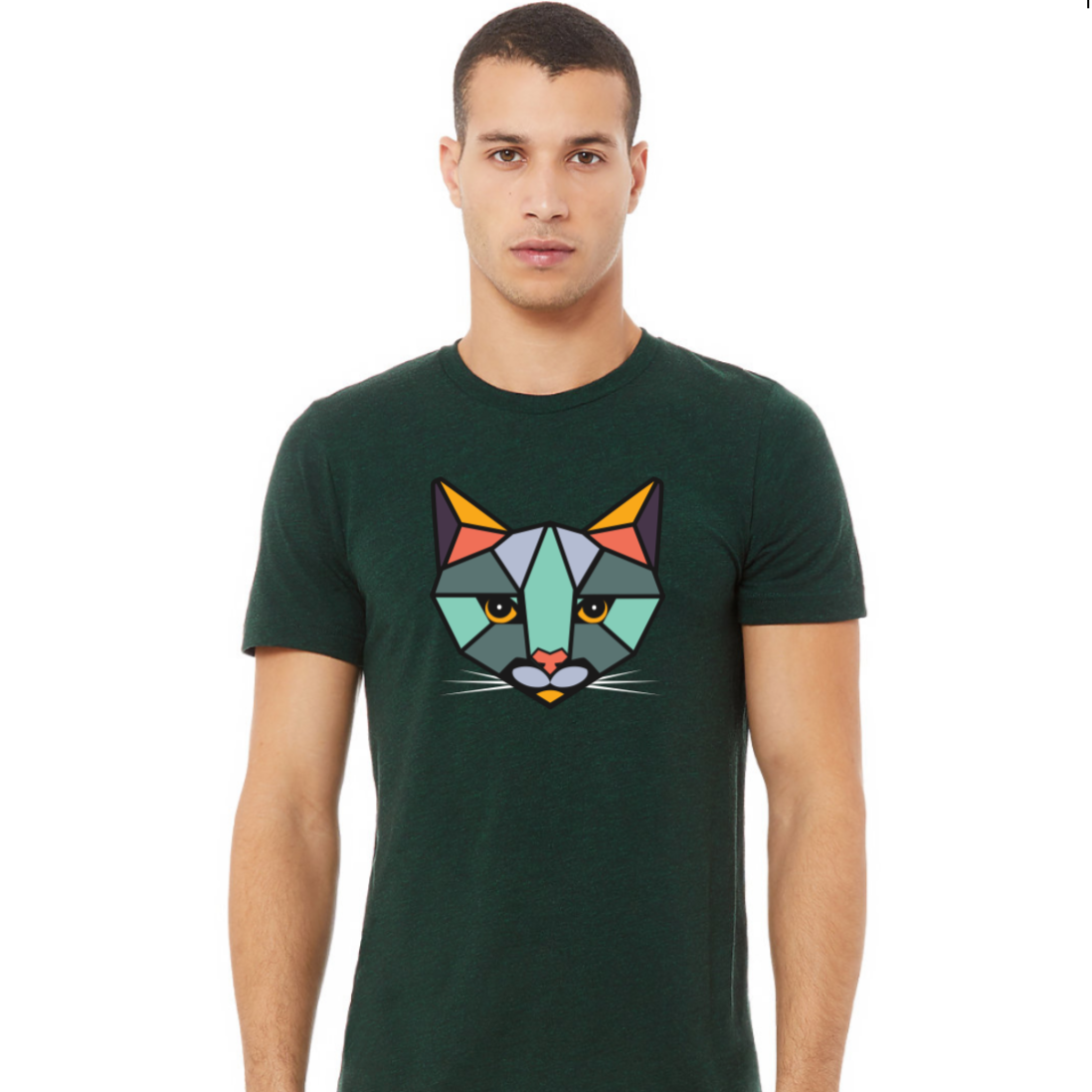 """ROAR T-Shirt"" - Emerald Green Heather + Full Color Logo (Unisex)"