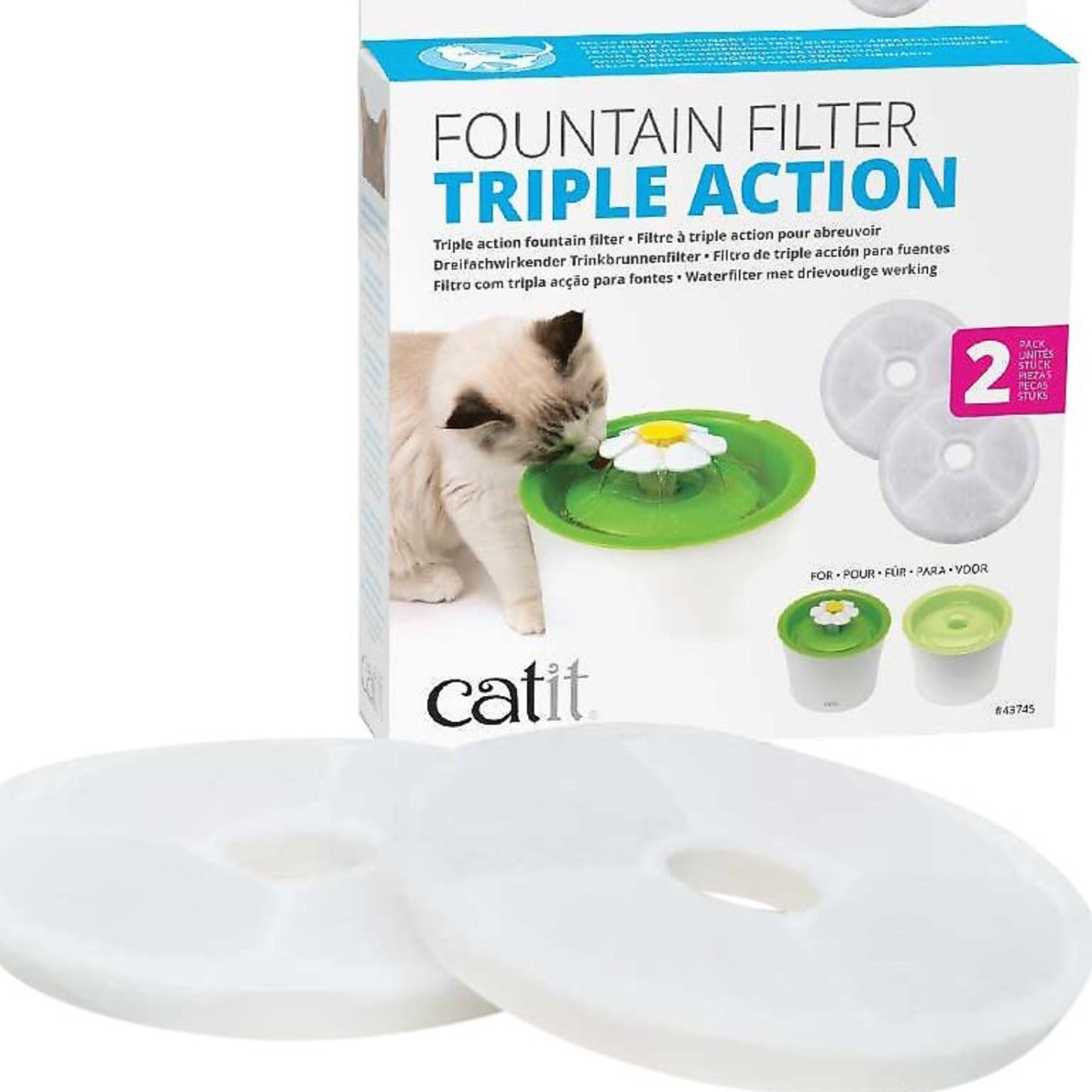 "2-Pack Replacement Filters - ""Flower Power"" Drinking Fountain"