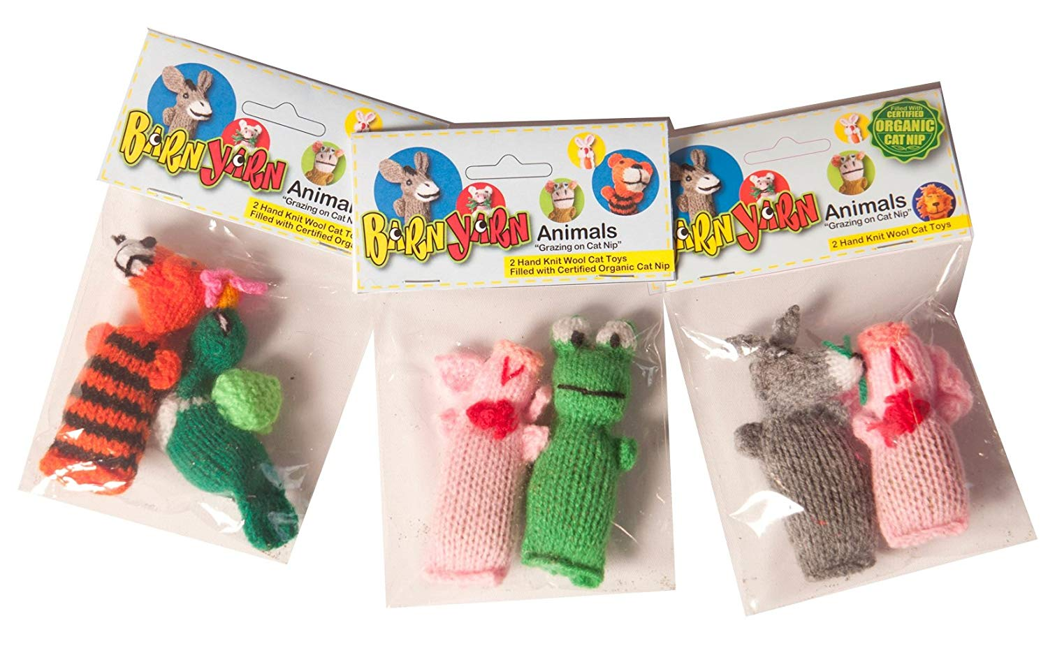 Barn Yarn Animals Catnip Toys (2 pack)