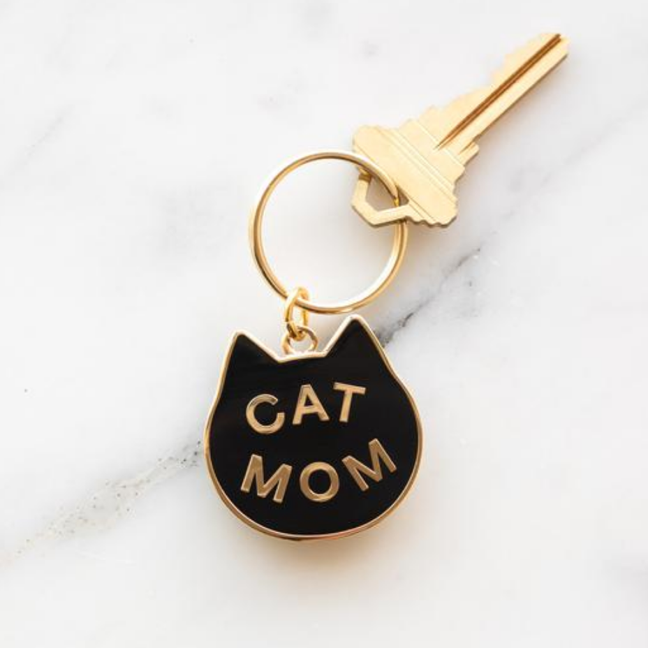 """Cat Mom"" -  Enamel Keychain"