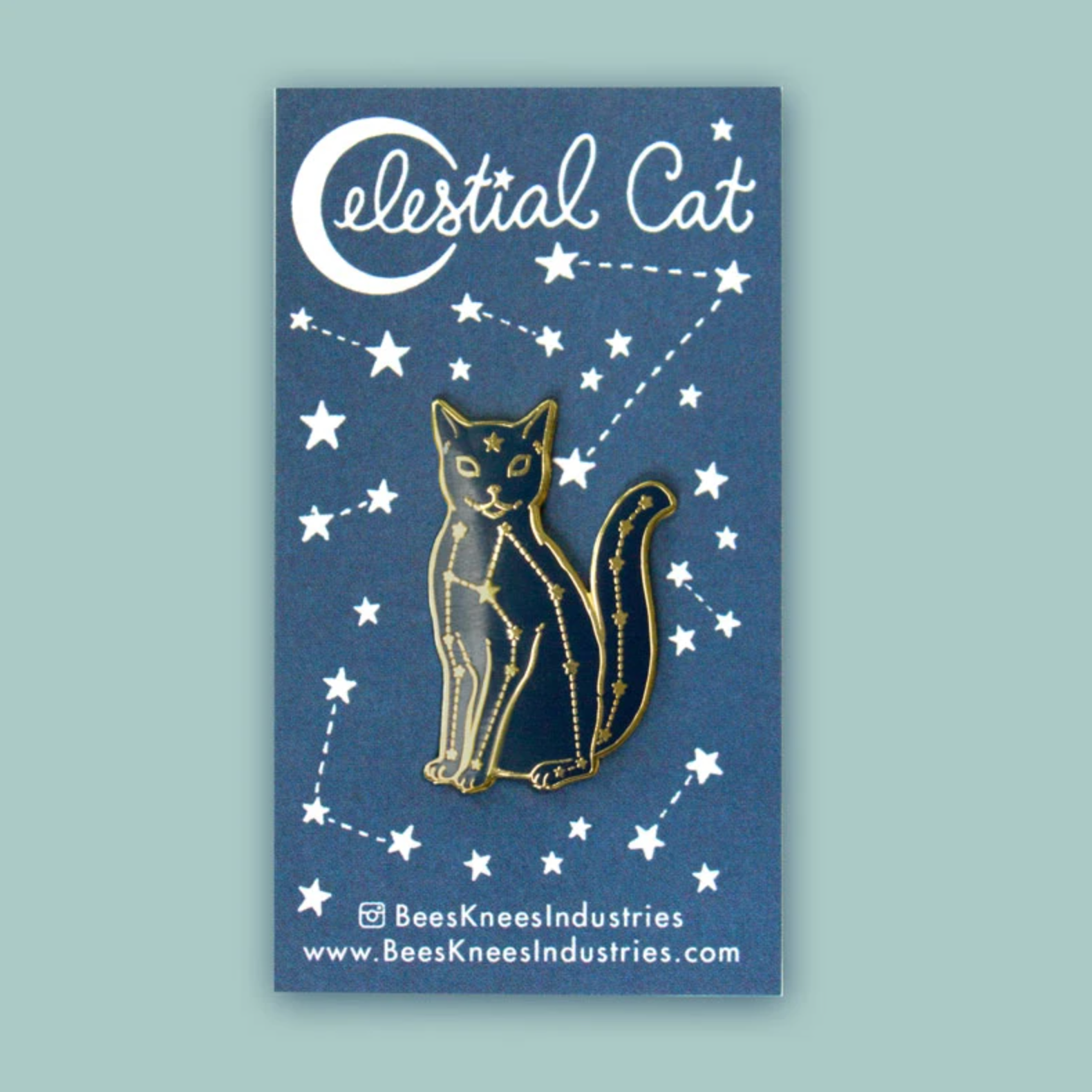 """Celestial Cat"" - Enamel Pin"