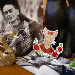 """Frida Katlo"" -  Sphynx Cat Sticker"
