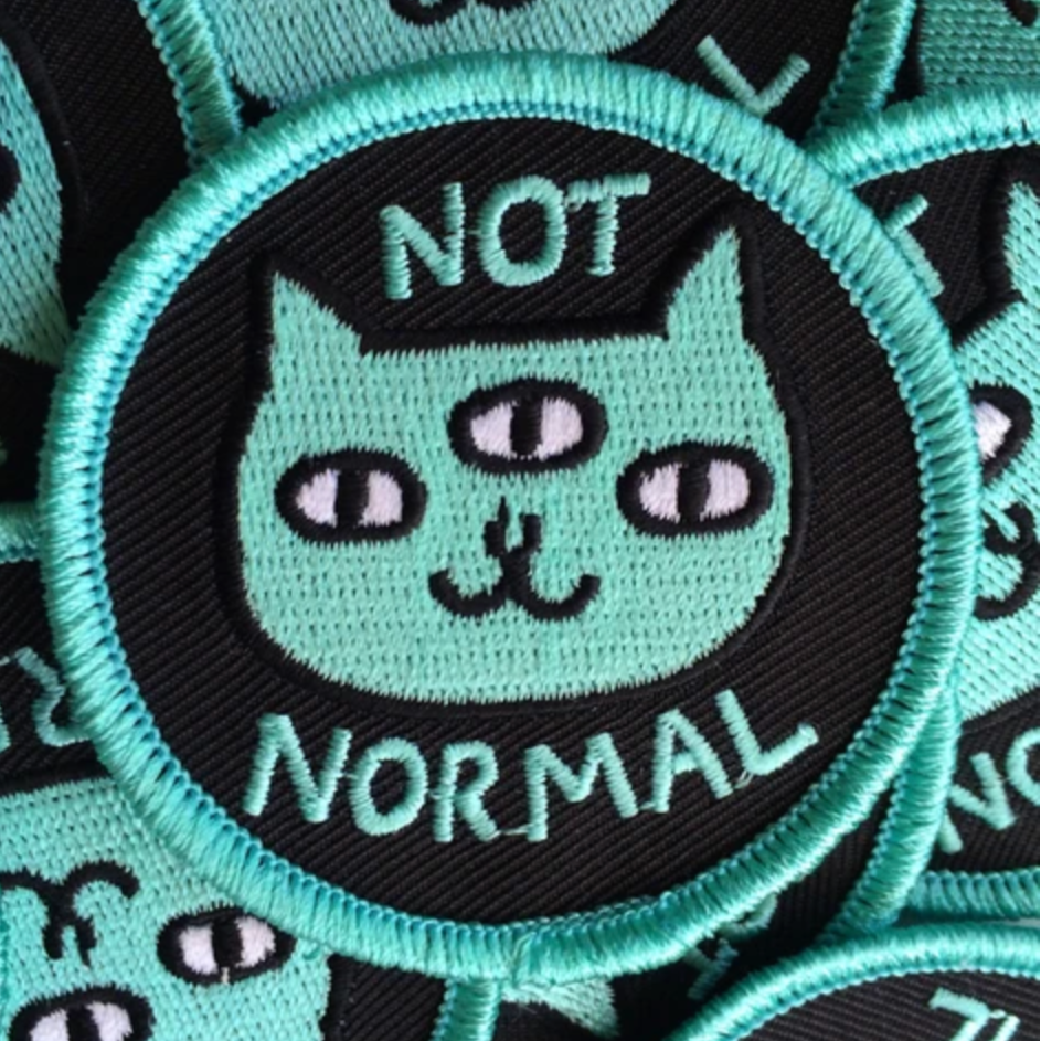 """Not Normal"" - Iron-On Patch"